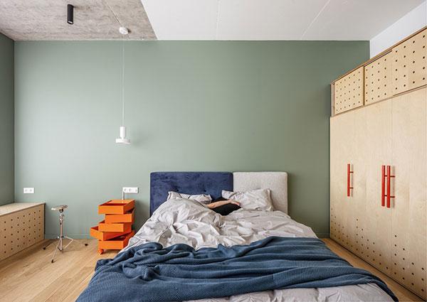 اتاق خواب آبی و سبز