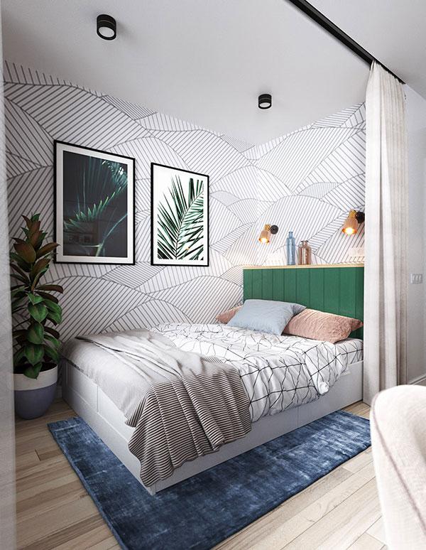 اتاق خواب دخترانه سبز و صورتی
