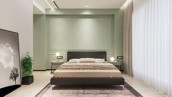 اتاق خواب سبز روشن