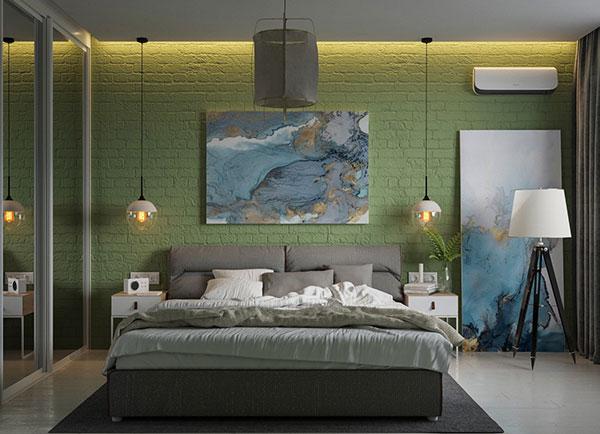 اتاق خواب سبز پسته ای