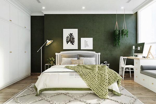 اتاق خواب سبز یشمی