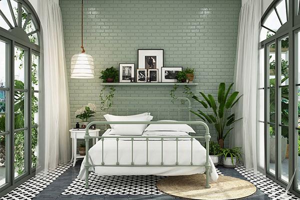 اتاق خواب لوکس سبز رنگ