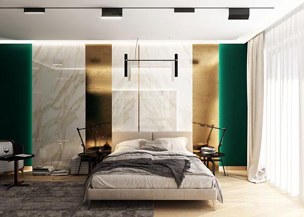 اتاق خواب مدرن به رنگ سبز