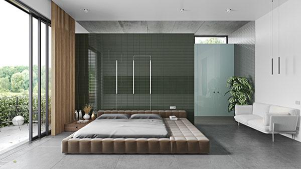 اتاق خواب مستر سبز رنگ