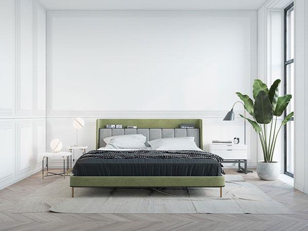 تختخواب دو نفره سبز