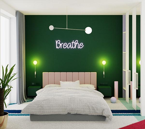 دکوراسیون اتاق خواب به رنگ سبز