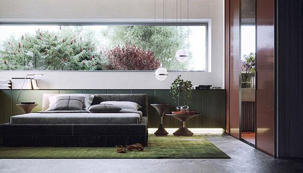 دکوراسیون اتاق خواب سبز رنگ