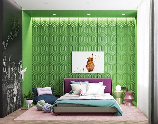 رنگ سبز برای اتاق خواب کودک