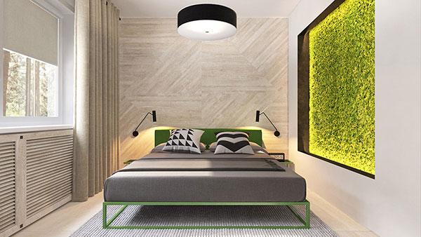 رنگ سبز لیمویی برای اتاق خواب