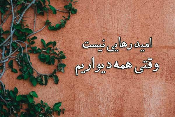 عکس نوشته شعر حسین منزوی