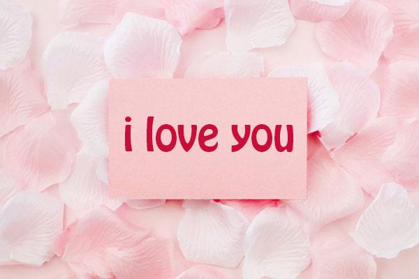 عکس نوشته i love you