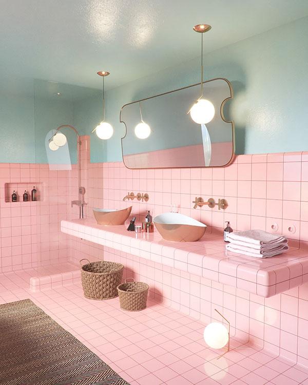 سرامیک صورتی سرویس بهداشتی و حمام