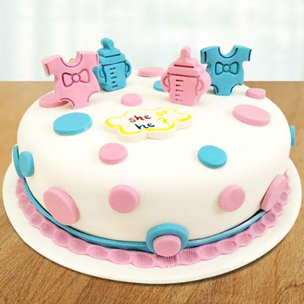 کیک تعیین جنسیت دوقلو
