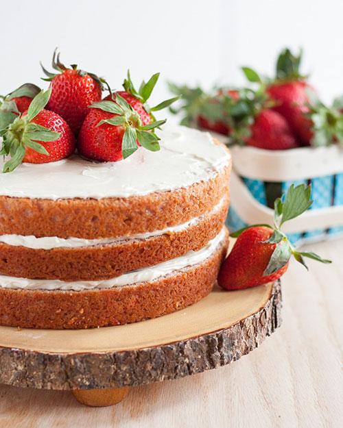 مدل کیک سالگرد ازدواج بدون فوندانت
