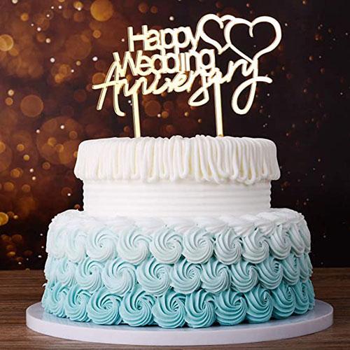 مدل کیک سالگرد ازدواج خامه ای