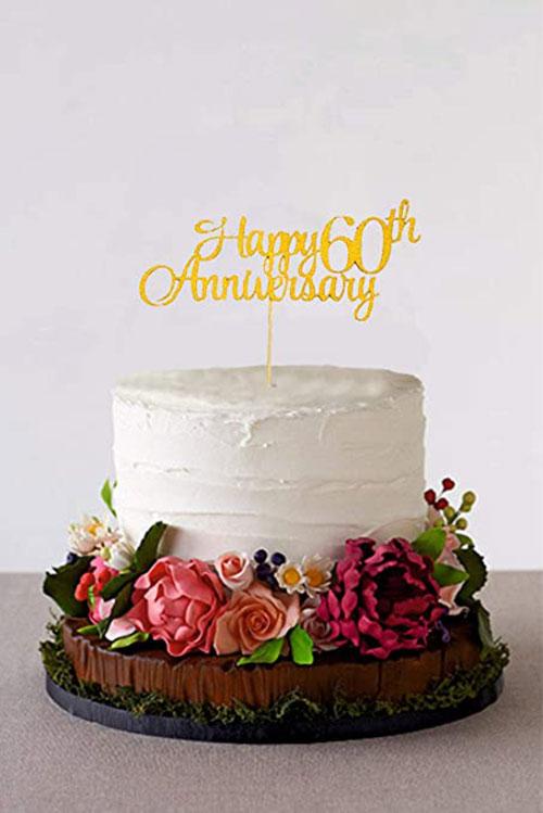 مدل کیک سالگرد ازدواج ساده