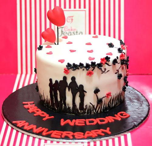 کیک برای سالگرد ازدواج