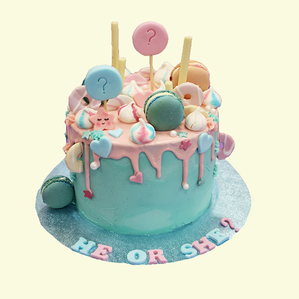 کیک تعیین جنسیت خانگی