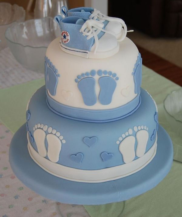 کیک تعیین جنسیت پسرانه