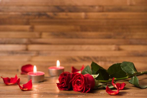 عکس پروفایل شمع و گل