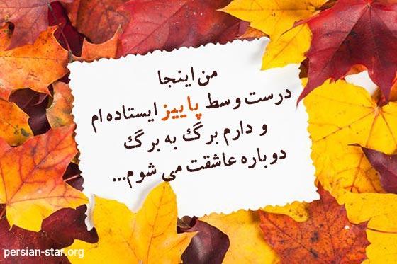 متن در مورد برگ ریزان پاییز
