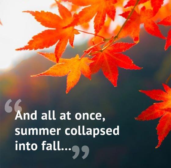 متن زیبا در مورد فصل پاییز به انگلیسی