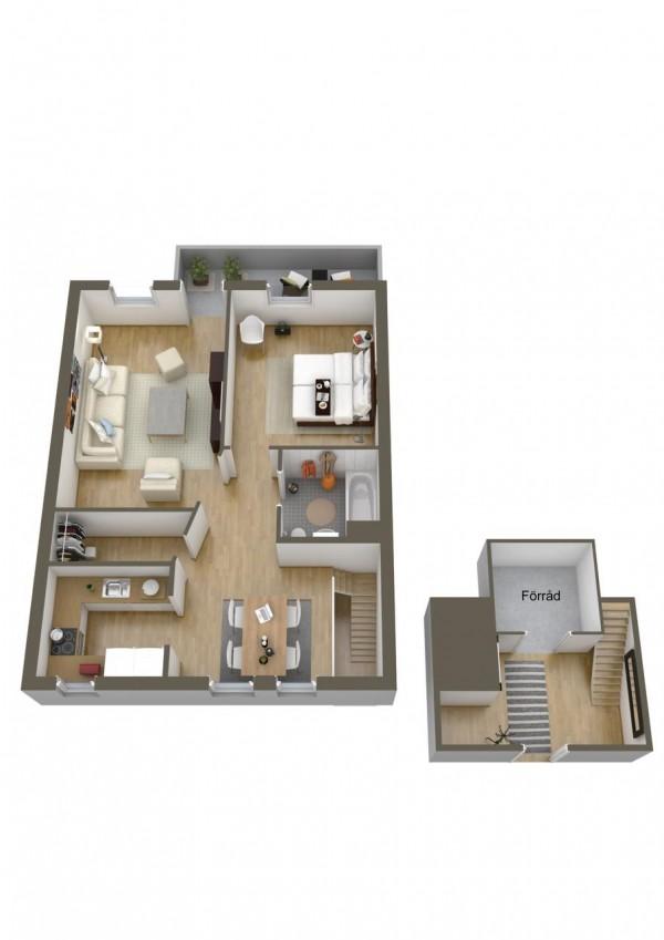 نقشه خانه 1 خوابه