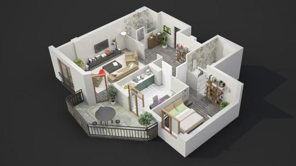 نقشه خانه دو خوابه 110 متری