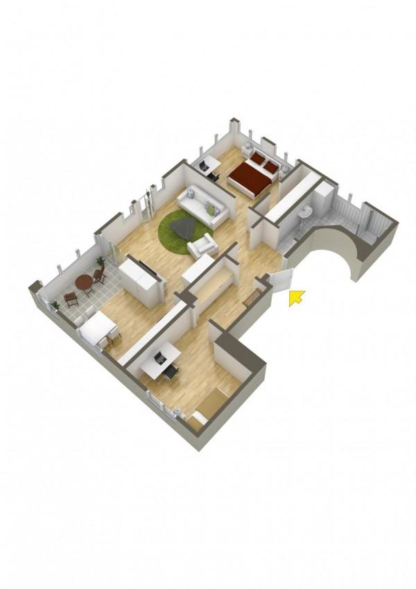 نقشه خانه 60 متری 2 خوابه