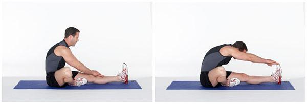 کشش عضلات پشت ران (همسترینگ)