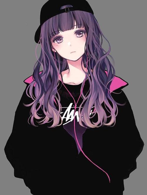 عکس پروفایل انیمه ای دخترانه