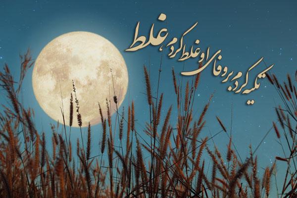 شعر نوشته وحشی بافقی