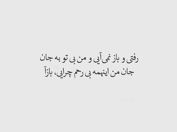 عکس نوشته شعر وحشی بافقی