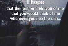 متن انگلیسی در مورد باران