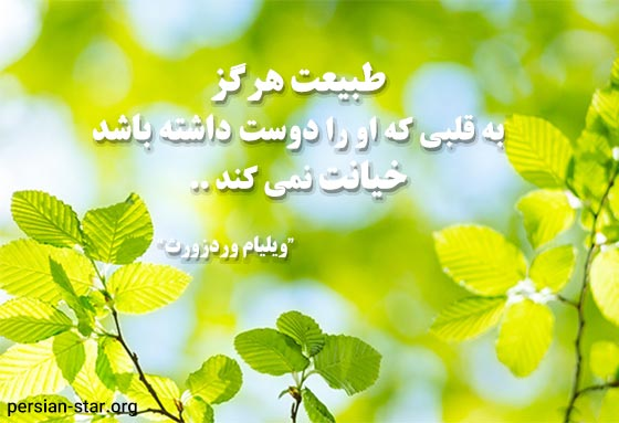 جملات زیبا از بزرگان در مورد طبیعت