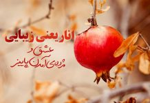 عکس نوشته انار و پاییز